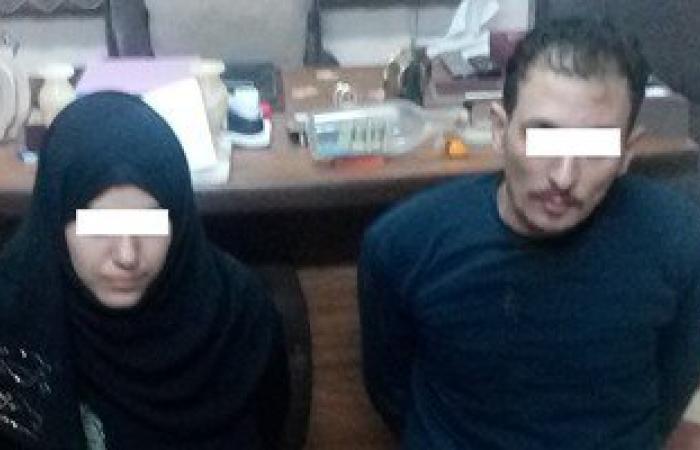 """ضبط عاطل وزوجته أثناء قيامهما بسرقة """"توك توك"""" تحت تهديد السلاح بالمنوفية"""