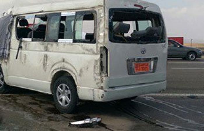 إصابة 14 فى حادث تصام سيارة ميكروباص بتاكسى بمركز المحلة فى الغربية