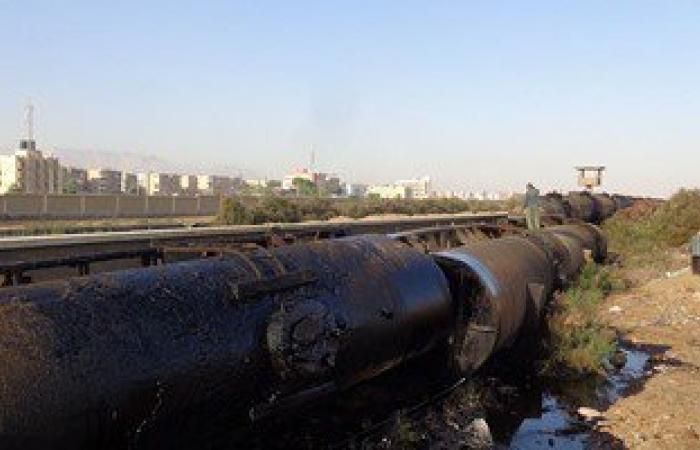 لجنة من السكة الحديد لفحص حادث خروج 6 صهاريج عن القضبان فى السويس