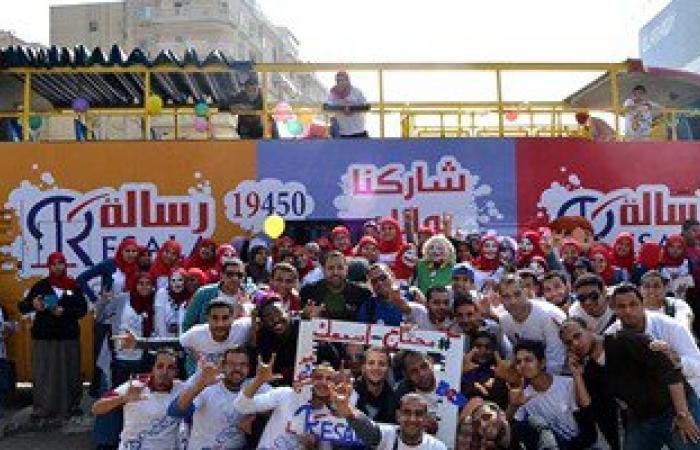 جمعية رسالة توزع بطاطين وشنط غذائية وتقيم معرض ملابس للفقراء بسوهاج