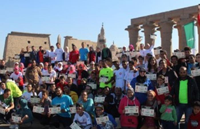 بالصور.. طلاب كلية السياحة ينظمون ماراثون لتشجيع السياحة بمعابد الأقصر