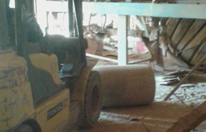 ننشر الصور الأولى لانهيار جزء من مصنع سيراميكا لابوتيه على العمال