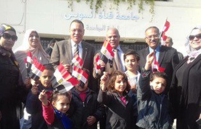 بالصور.. أطفال دوحة الزمان فى زيارة جامعة قناة السويس