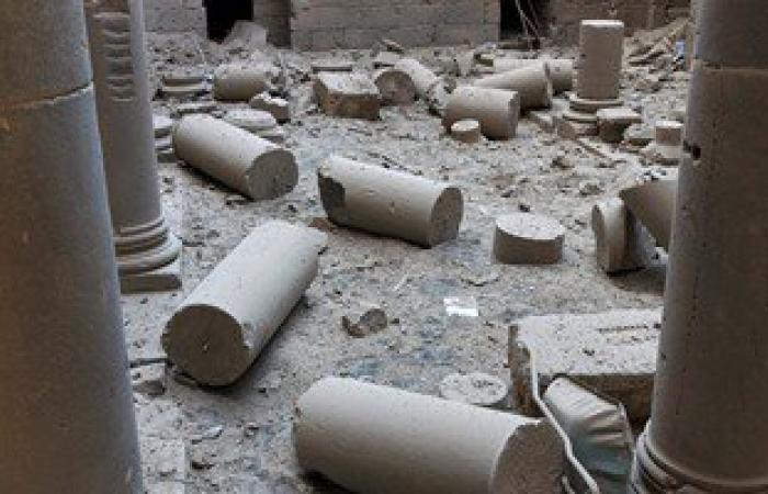 بالصور.. تضرر قلعة بصرى التاريخية جراء قصف طائرات الأسد بمحافظة درعا