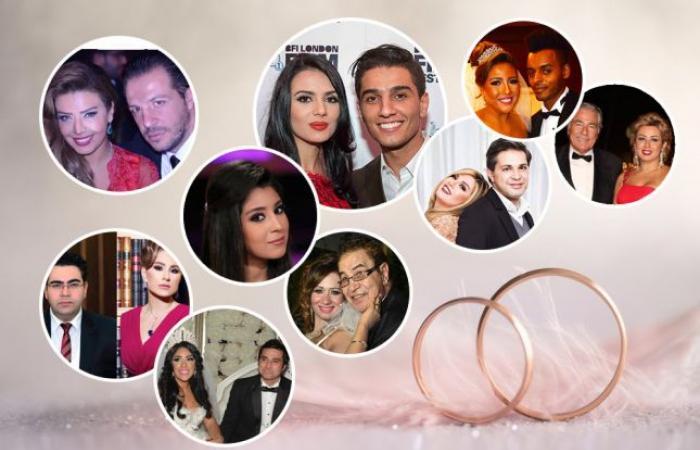 أهم الزيجات الفنية وزواج أقارب النجوم في العام 2015