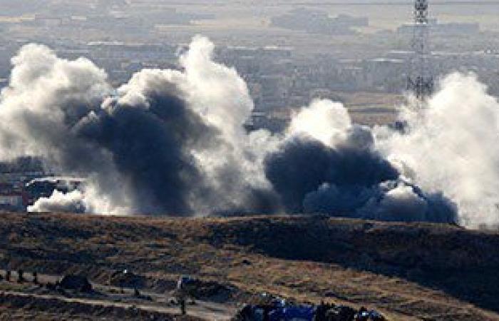 20 قتيلا فى غارة لطائرات النظام السورى على حى حمورية بريف دمشق