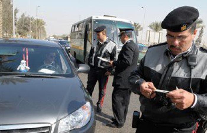 """حملة مرورية كبرى بـ""""التحرير"""".. والأمن يفحص هويات سائقى الدراجات البخارية"""