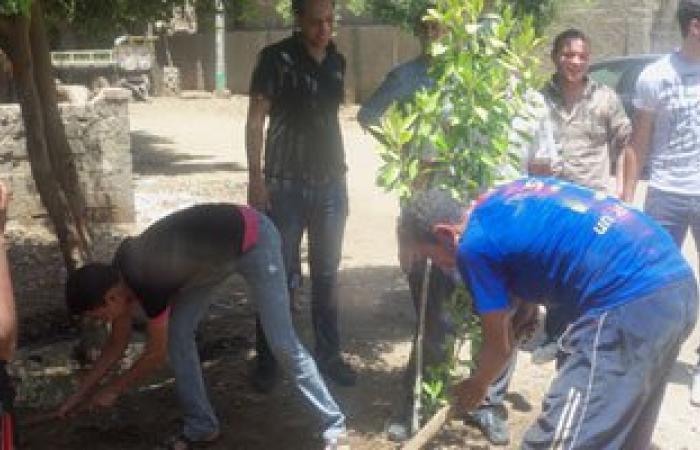 مؤسسة حورس وجمعية بلدى ينفذان مبادرة تشجير قرية مشطا بسوهاج