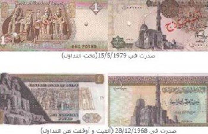 بالصور.. قصة تطور تصميم الجنيه المصرى على مدار 116 عاما