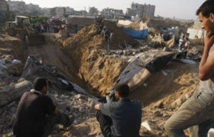 تقارير فلسطينية : انهيار نفق شمال قطاع غزة ومحاصرة 10 داخله