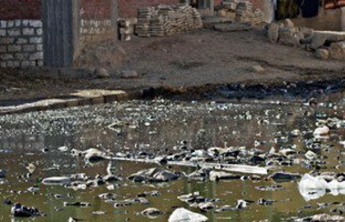 بالصور. القمامة ومياه الصرف تهدد حياة ألف أسرة بقرية درنكة