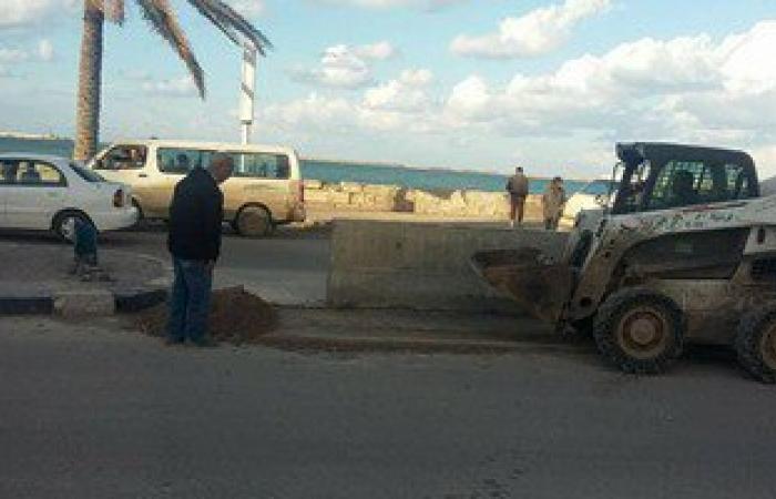 بالصور.. إيقاف أعمال بناء 4 عقارات مخالفة غرب الإسكندرية