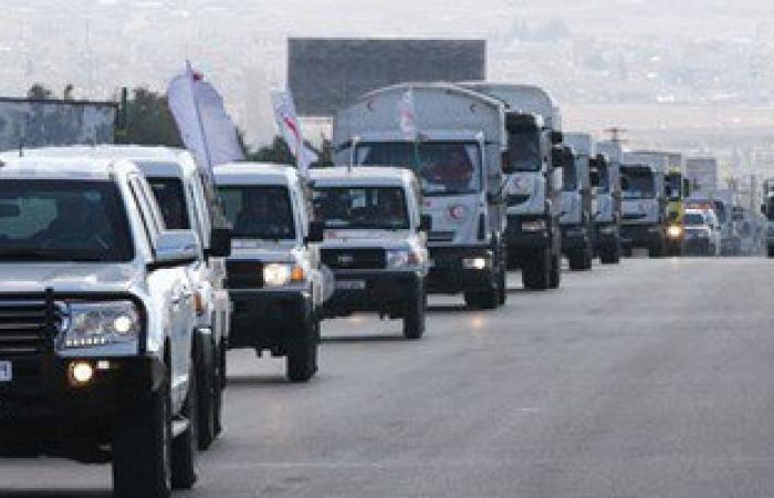 دخول قافلة مساعدات طبية لمدينة دوما قرب دمشق