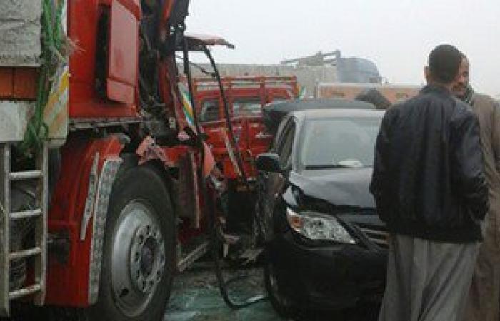 إصابة 3 أشخاص فى حادث اصطدام سيارة بكشك كهرباء بأسيوط