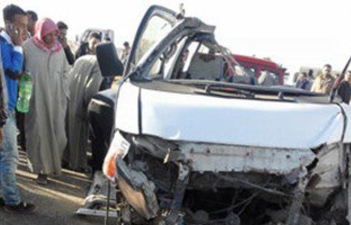 وصول مصابين فى حادث سير لمستشفى بئر العبد بشمال سيناء