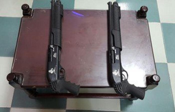 مباحث العامرية تضبط أسلحة نارية بحوزة عاطلين