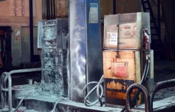بالصور.. الحماية المدنية تخمد نيران حريق محطة وقود طنطا
