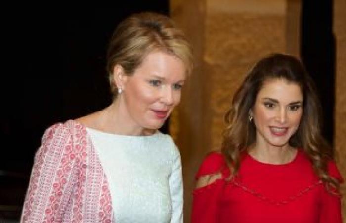 الملكة رانيا تنشر صورتها أثناء استقبال ملكة بلجيكا