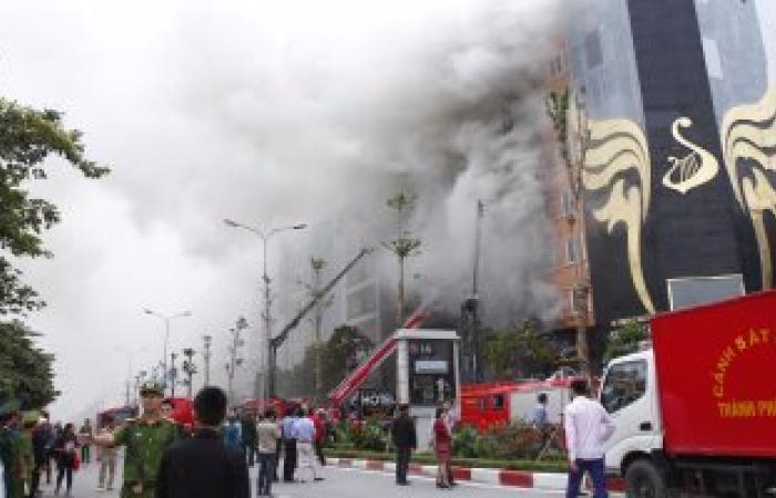 نشوب حريق بمخزن ورق امتحانات بإدارة شرق التعليمة بطنطا بسبب ماس كهربائى