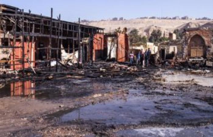 الحماية المدنية تسيطر على حريق نشب بسوق أبو حمص العمومى بالبحيرة
