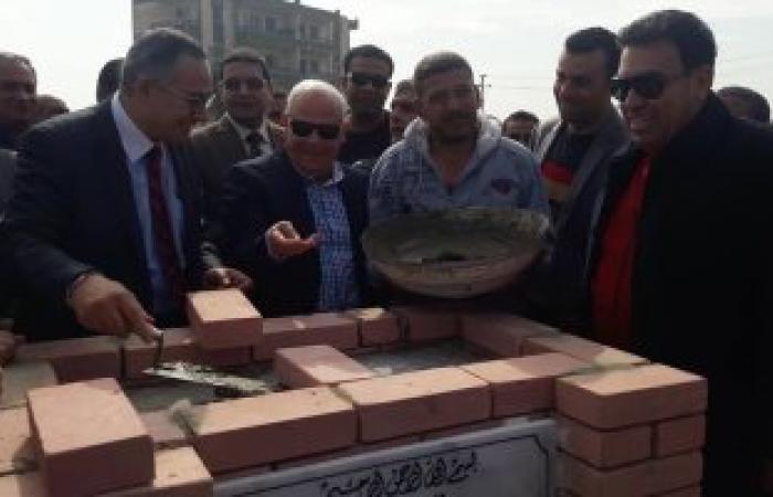 وضع حجر الأساس لإنشاء 43 عمارة لسكان الجناين وهاجوج والإصلاح جنوب بورسعيد