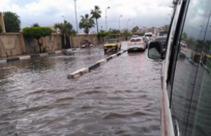 بالصور.. مياه الأمطار تغرق منطقة طوسون شرق الإسكندرية