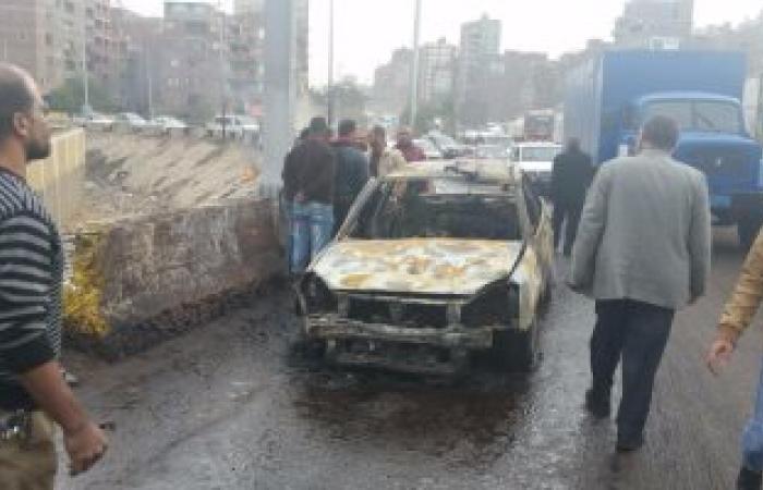 """نيابة الخصوص تعاين موقع انقلاب سيارة محملة بالسولار بـ""""دائرى مسطرد"""""""