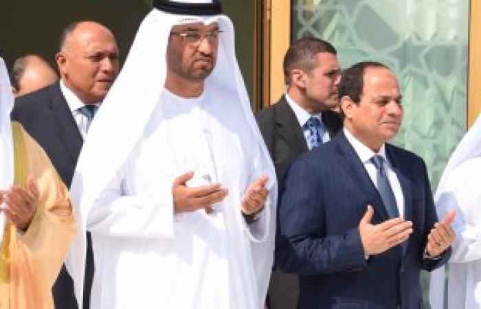 السيسى يزور ضريح الشيخ زايد وواحة الكرامة بالإمارات