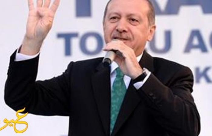 """صحيفة تركية: """"أردوغان"""" يرد على قرارات مصر برفع إشارة """"رابعة"""""""
