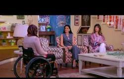 السفيرة عزيزة - هند حازم - توضح سبب اختيارها ممارسة رياضة السباحة رغم الاعاقة