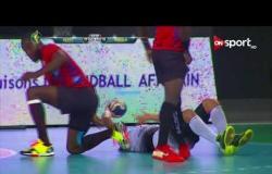 الشوط الثاني من مباراة كرة اليد بين منتخب مصر ومنتخب أنجولا في بطولة أمم إفريقيا
