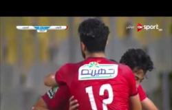 الهدف الأول لفريق الأهلي في مرمى المصري عن طريق أحمد حمدي