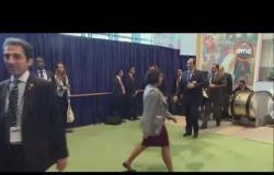 """السفيرة عزيزة - لحظة وصول الرئيس """"السيسي"""" لمقر الأمم المتحدة لحضور فعاليات الجمعية العامة"""