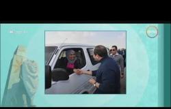 """8 الصبح - السيسي يتفقد العاصمة الإدارية ... ويصافح أحد السيدات """" سائقة الميكروباص """""""