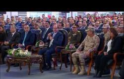 """الرئيس السيسي معلقًا على ترعة الطوارئ: """"والله ما حد عمل كده في العالم غيرنا"""""""