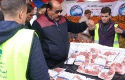 """صور.. """"مستقبل وطن"""" يقيم منافذ لبيع اللحوم بأسعار مخفضة ويكرم معلمين فى مطروح"""