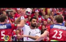 الأخبار - المنتخب الوطني يفوز على تونس ( 30 - 23 ) ويلاقي إسبانيا على المركزين السابع والثامن