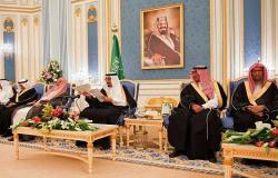 الملك سلمان يجتمع بـ 38 أميرا في قصر اليمامة
