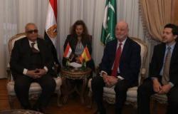 المستشار بهاء أبو شقة يستقبل السفير الأسبانى فى حزب الوفد