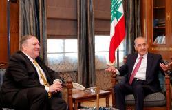"""بري لبومبيو: مقاومة """"حزب الله"""" ناجمة عن احتلال إسرائيل المستمر للأراضي اللبنانية"""