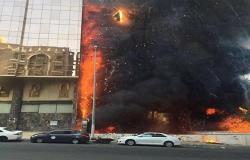 بالصور... نشوب حريق في المدينة المنورة