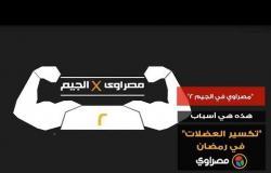 """""""مصراوي×الجيم 2""""..هذه هي أسباب """"تكسير العضلات"""" في رمضان"""