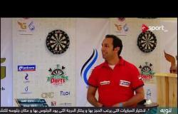 مباراة اللاعب المصري عمرو فهمي والإستوني ألفار ضمن منافسات بطولة مصر الدولية للدراتس
