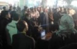 تزايد أعداد المشاركين في مسيرة المؤيدين لبيان الجيش بالمنيا