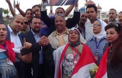 """مؤيدو """"السيسى"""" يجوبون شوارع عابدين لدعمه فى الانتخابات الرئاسية"""