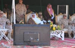 الأمير متعب بن عبد العزيز يتفقد عمل قوات الحرس الوطنى ويحتفل معهم بالعيد