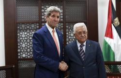 بالصور..عباس يبحث مع كيرى فى رام الله موجة التوتر المستمرة مع الاحتلال