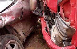 إصابة أربعة أشخاص فى تصادم سيارتين بكوم أمبو