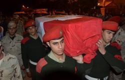 وصول جثمان شهيد الغربية فى حادث العريش الإرهابى لمسقط رأسه