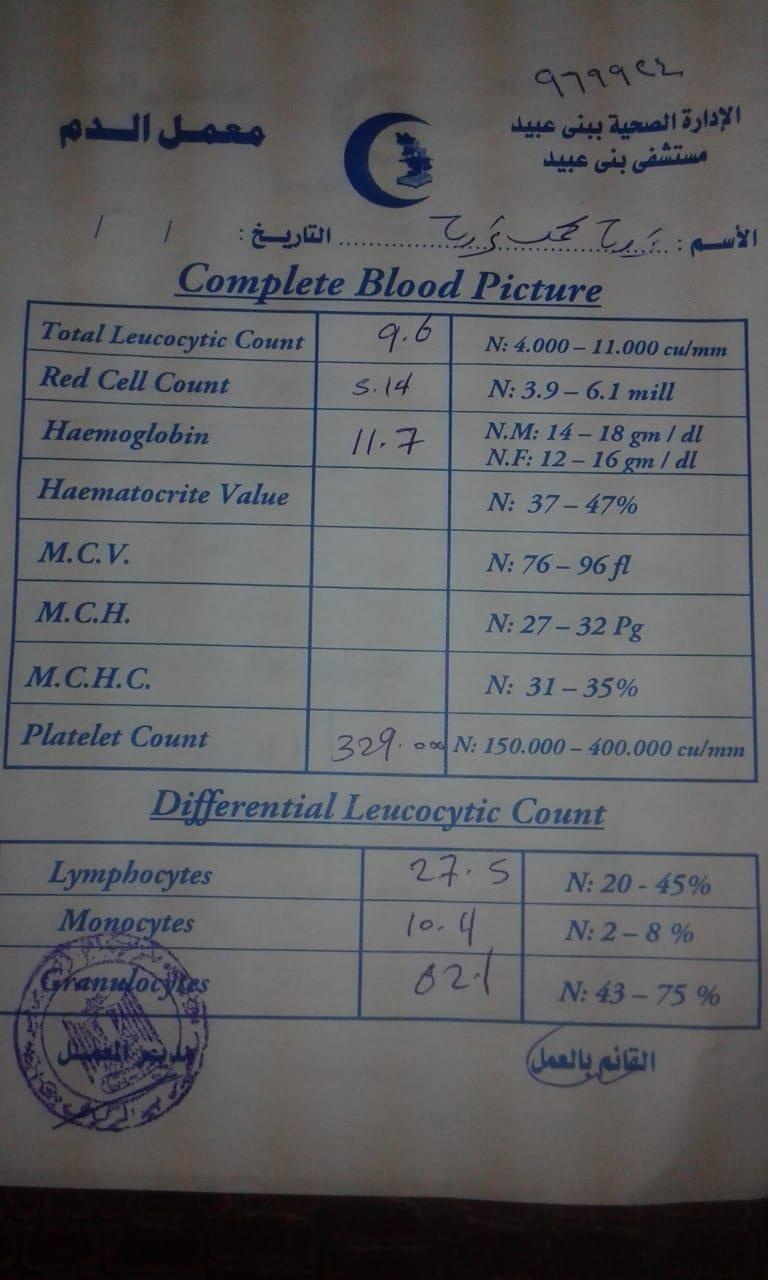 صورة من استمارة التحليل للطفل